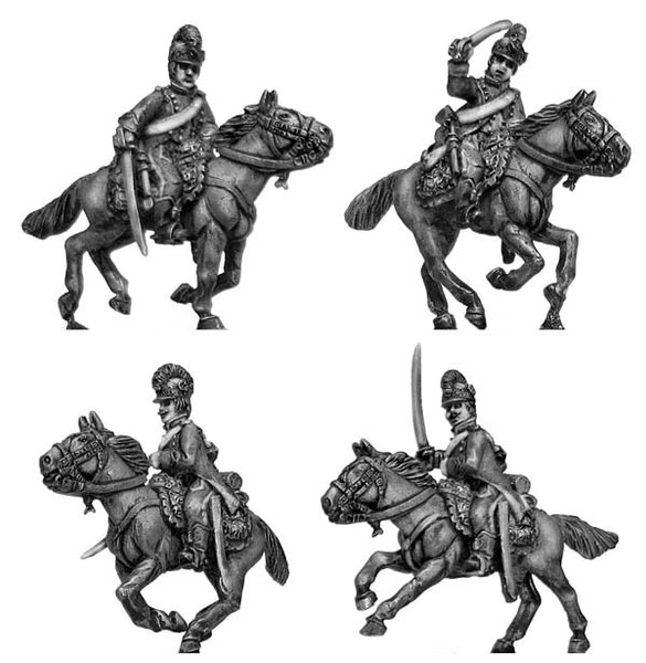 (100WFR153) Chasseurs a Cheval, charging tailed surtout coat