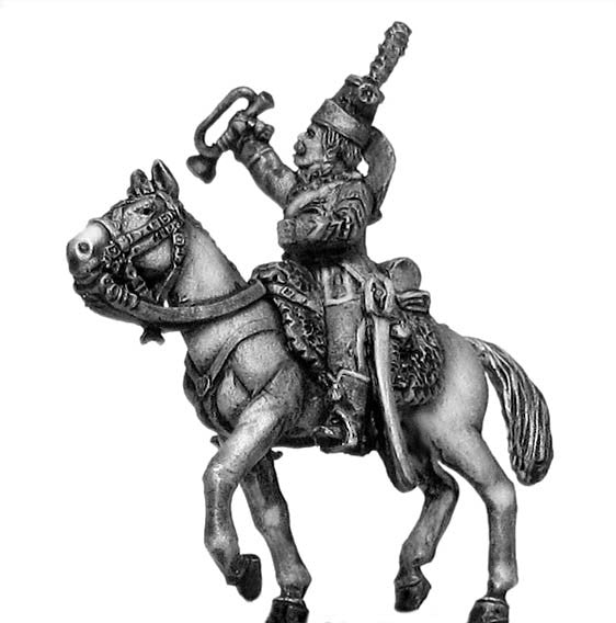 (100WFR165) Chasseur a Cheval Trumpeter, tailed surtout coat