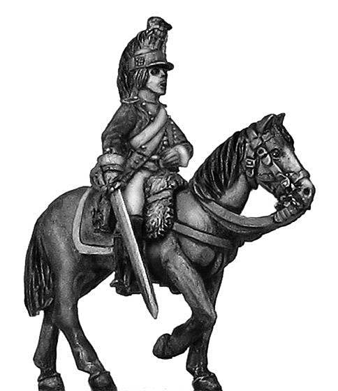(100WFR169) Dragoon officer, at rest