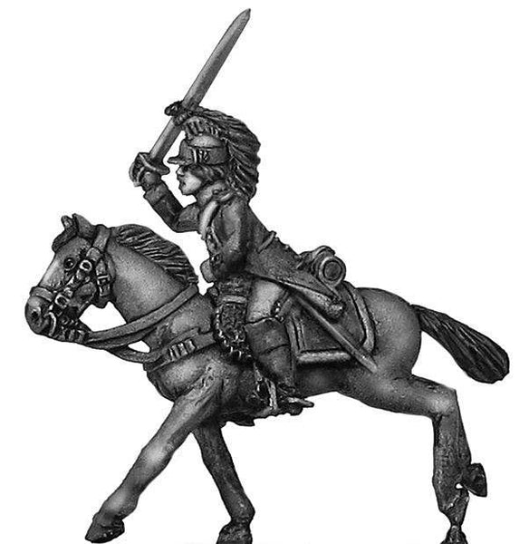 (100WFR172) Dragoon officer, charging