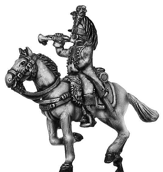 (100WFR173) Dragoon trumpeter, charging