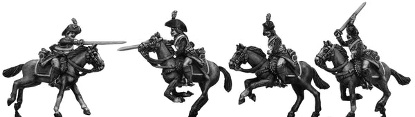 (100WFR185) Cuirassier trooper, charging