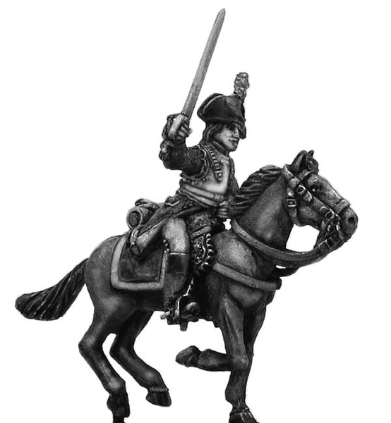 (100WFR186) Cuirassier Officer, charging