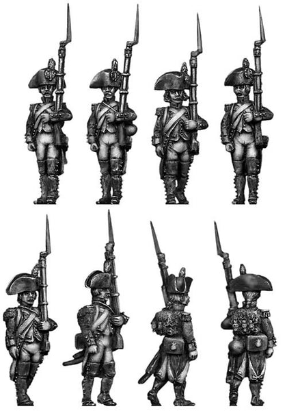 (100WFR024) Grenadier, bicorne, regulation uniform, march attack