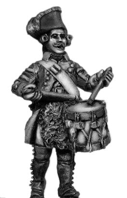 (100WFR318) Russian Musketeer drummer, lapels/collar, marching