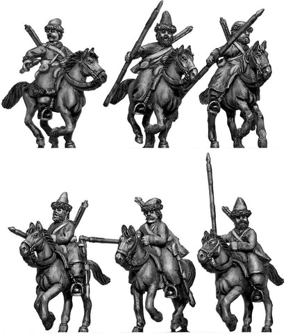 (100WFR374) Ural Cossacks, mounted