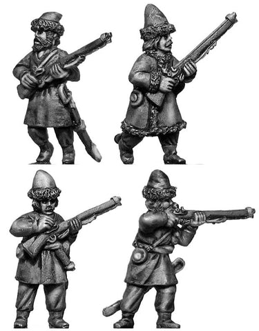 (100WFR376) Ural Cossack dismounted, skirmishing