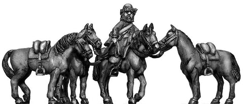 (100WFR377) Ural Cossack Horse holder and horses