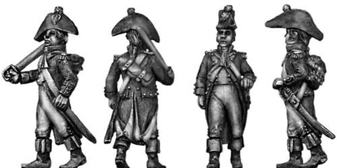 (100WFR041) Officer, bicorne ragged uniform
