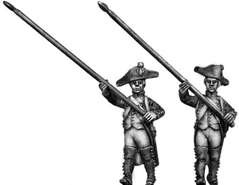 (100WFR045) Standard bearer, bicorne, regulation uniform, marching