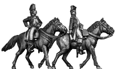 (100WFR047) French Mounted Officers set
