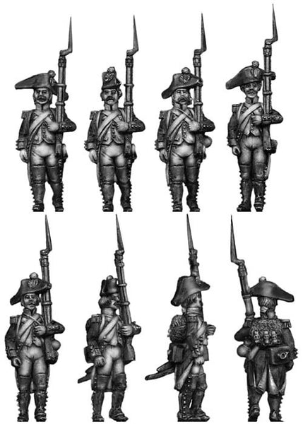 (100WFR050) Voltigeur, bicorne, regulation uniform, marching