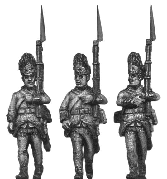 (100WFR527) Hungarian Grenadier, bearskin, march attack