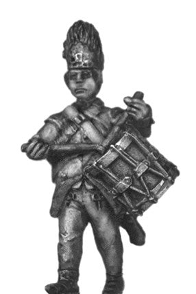 (100WFR532) Hungarian Grenadier drummer, bearskin, marching