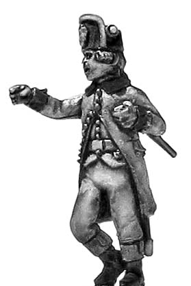 (100WFR539) Austrian Inf/Jager Officer, kasket, action pose
