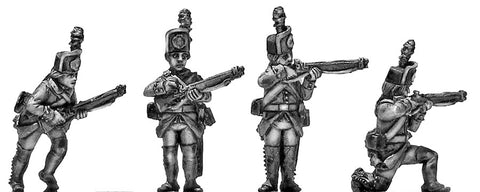 (100WFR560) Jager in kasket hat with 1779 rifle skirmishing
