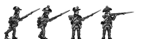 (100WFR567) Jager in Tyrolean round hat, musket, skirmishing