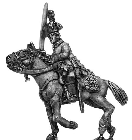 (100WFR624) Chevauleger officer, tricorne, charging