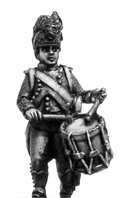 (100WFR065) Legere drummer, casque helmet, long tailed jacket