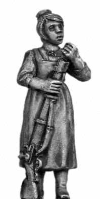 (100WFR701d) Tyrolean woman with firearm