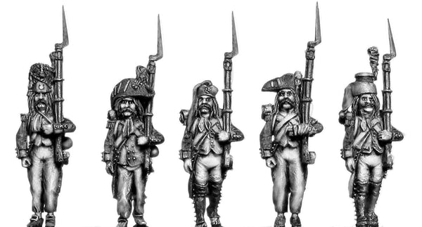 (100WFR098) French Infantry Characters Set 1 (5 figures)