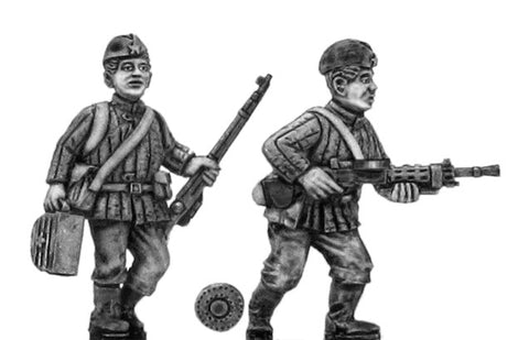 (100WWT006) Soviet Infantry LMG team in side cap