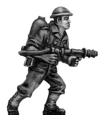 (100WWT073) Australian infantry with flamethrower, helmet (2 figure set)