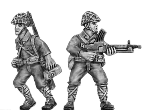 (100WWT101h) NEW LMG Team, skrim helmet - 2 figure set