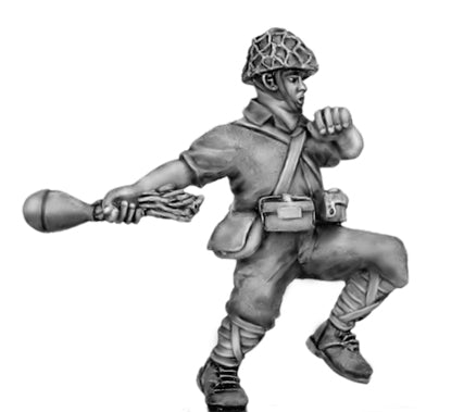 (100WWT104h) Japanese with anti-tank grenade, skrim helmet-2 figure set