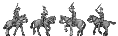 (100RBM002) Victorian Mounted Police- charging 4 vaiants