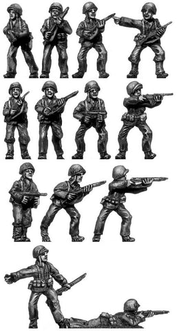 (200WWT40) U.S Marines Rifle Squad 1 - 13 figure set