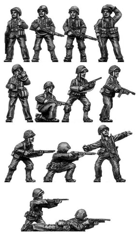 (200WWT41) U.S Marines Rifle Squad 2 - 13 figure set