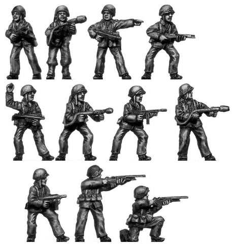 (200WWT42) U.S Marines Assault - 11 figure set