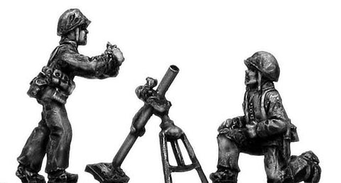 (200WWT46) U.S Marines Mortar team - 2 figure set