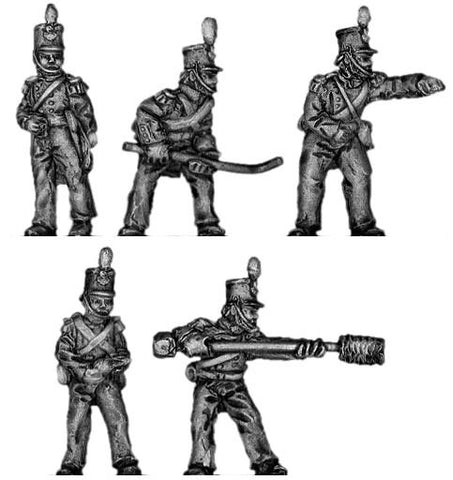 (300CMW044) British Foot Artillery Crew