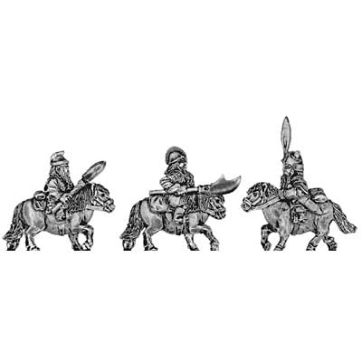 (300DWF09) Dwarf cavalry with spear