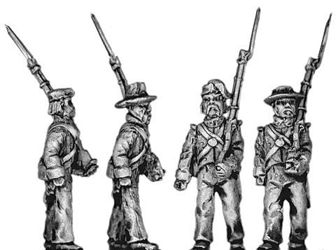 (300MAW56) Mex. Line Infantry, irregular hats, marching