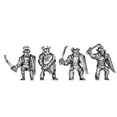 (300MRC09) Armoured Man-Orc with blades