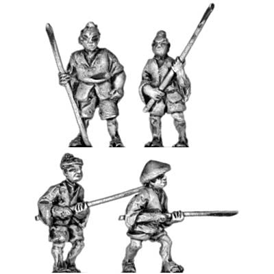 (300SAM01) Peasants with pole arms