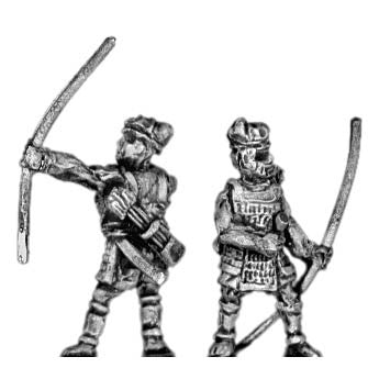 (300SAM03) Early Samurai followers with bow