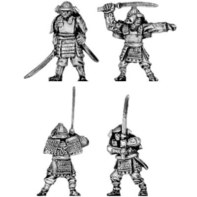 (300SAM06) Samurai in heavy armour with katana