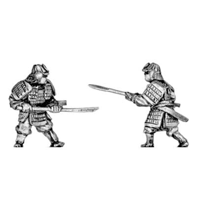 (300SAM07) Samurai in heavy armour with pole arms