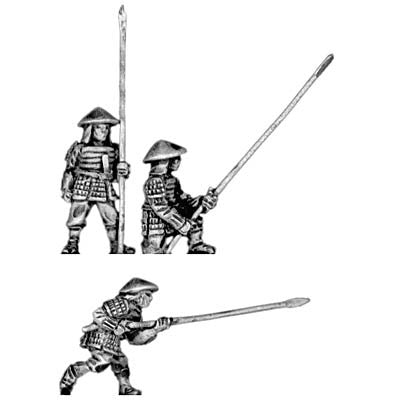 (300SAM12) Late or Renaissance Ashigaru with 12' yari