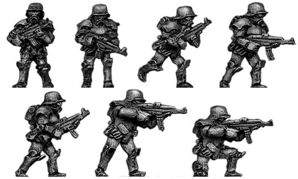 (300SCI01) SciFi German Stormtrooper with assault rifles
