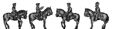 (300SYW131) Prussian Mounted General Staff-4 figure set