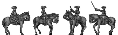 (300SYW354) Russian Mounted general staff-4 figure set