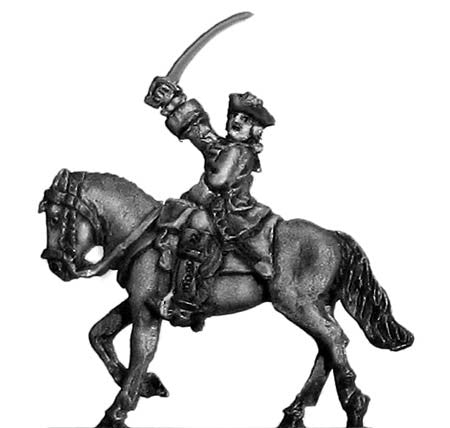 (300SYW432) Dragoons officer in tricorn