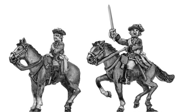 (300SYW518) Mounted officer in tricorn