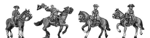 (300SYW534) Mounted Command Set- 4 figures, (one with wig)