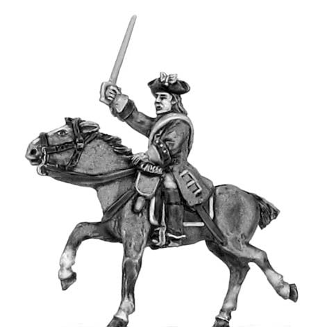 (300SYW555) Regiment of horse in tricorn  Officer